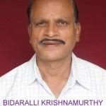 Bidarahalli Krishnamurthy passed away on 27-2-2014